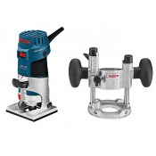Bosch 060160A170 Professional Palm Router + extra plunge base