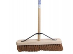 Faithfull soft coco broom 18 In handle + stay FAIBRCOCO18H