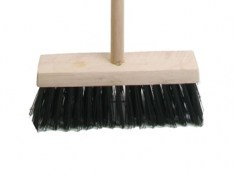 Broom PVC 325mm (13 in) Head complete with Handle FAIBRPVC13H